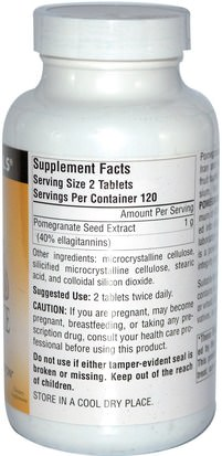 Source Naturals, Pomegranate Extract, 240 Tablets Suplementos, Antioxidantes, Extracto De Jugo De Granada