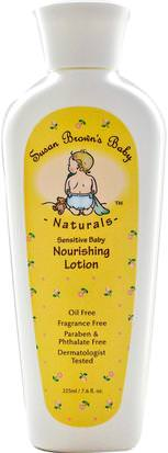 Baño, Belleza, Loción Corporal, Loción Para Bebé Susan Browns Baby, Sensitive Baby, Nourishing Lotion, Fragrance Free, 7.6 fl oz (225 ml)