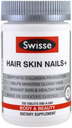 Salud, Mujeres Swisse, Hair Skin Nails+, 150 Tablets