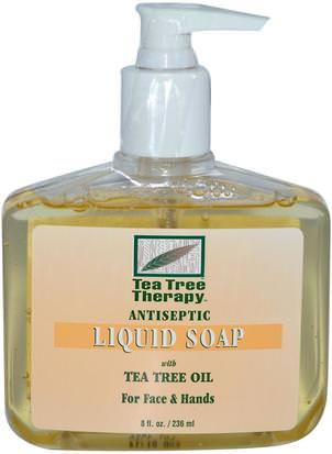 Baño, Belleza, Jabón Tea Tree Therapy, Antiseptic, Liquid Soap, 8 fl oz (236 ml)