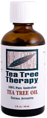 Baño, Belleza, Aceites Esenciales De Aromaterapia, Aceite De Árbol De Té Tea Tree Therapy, Tea Tree Oil, 100% Pure Australian, 2 fl oz (60 ml)