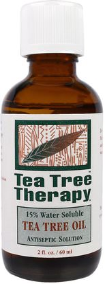 Baño, Belleza, Aceites Esenciales De Aromaterapia, Aceite De Árbol De Té Tea Tree Therapy, Tea Tree Oil, 2 fl oz (60 ml)