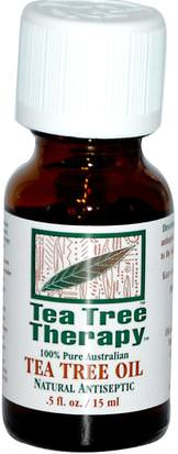 Baño, Belleza, Aceites Esenciales De Aromaterapia, Aceite De Árbol De Té Tea Tree Therapy, Tea Tree Oil.5 fl oz (15 ml)