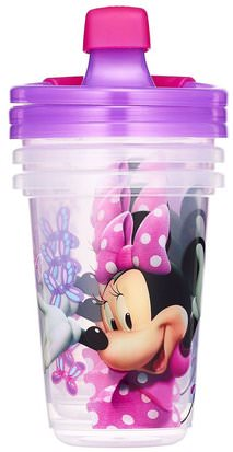 Salud De Los Niños, Alimentación Del Bebé, Tazas De Sippy The First Years, Disney Minnie Mouse, Sippy Cups, 9+ Months, 3 Pack - 10 oz (296 ml)