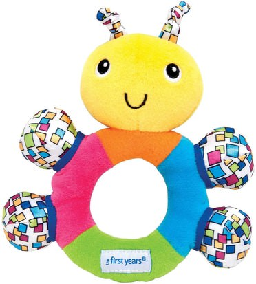 Salud Para Niños, Juguetes Para Niños The First Years, First Rattle, Easy-Grip Rattle, 0+ Months, 1 Piece