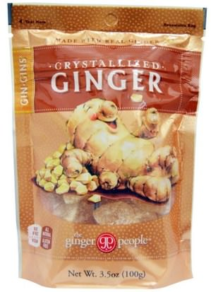 Comida, Bocadillos, Dulces The Ginger People, GinGins, Crystallized Ginger, 3.5 oz (100 g)
