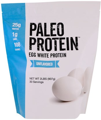 Deportes, Suplementos, Proteínas The Julian Bakery, Paleo Protein, Egg White Protein, Unflavored, 2 lbs (907 g)