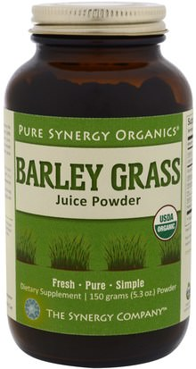 Suplementos, Superalimentos, Hierba De Cebada The Synergy Company, Barley Grass Juice Powder, 5.3 oz (150 g)
