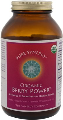 Suplementos, Extractos De Frutas, Superfrutas The Synergy Company, Organic Berry Power, 8 oz (225 g)