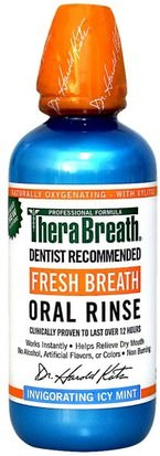Baño, Belleza, Cuidado Bucal Oral, Xylitol Cuidado Bucal, Enjuague Bucal TheraBreath, Fresh Breath Oral Rinse, Invigorating Icy Mint Flavor, 16 fl oz (473 ml)