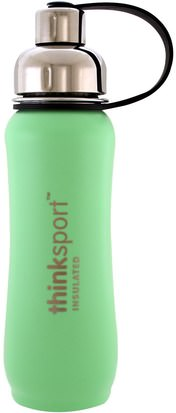 Hogar, Utensilios De Cocina Think, Thinksport, Insulated Sports Bottle, Mint Green, 17 oz (500 ml)