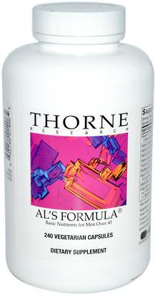 Vitaminas, Hombres, Multivitaminas Thorne Research, Als Formula, Basic Nutrients for Men Over 40, 240 Vegetarian Capsules