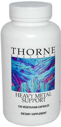 Salud, Desintoxicacion Thorne Research, Heavy Metal Support, 120 Vegetarian Capsules