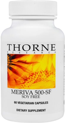 Suplementos, Antioxidantes, Curcumina Thorne Research, Meriva 500 - SF, Soy Free, 60 Vegetarian Capsules