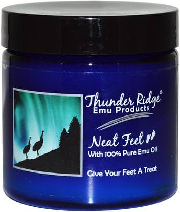 Baño, Belleza, Pie Cremas Thunder Ridge Emu Products, Neat Feet, 4 oz (113.6 g)