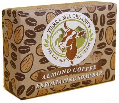 Baño, Belleza, Jabón Tierra Mia Organics, Raw Goat Milk Skin Therapy, Exfoliating Soap Bar, Almond Coffee, 3.8 oz