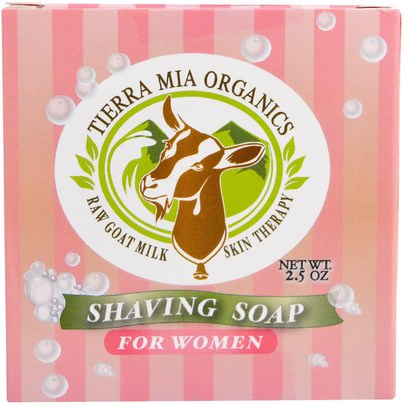 Baño, Belleza, Afeitado, Jabón Tierra Mia Organics, Raw Goat Milk Skin Therapy, Shaving Soap, For Women, 2.5 oz