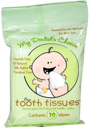 Salud Para Niños, Cuidado Bucal Para Bebés, Pasta De Dientes, Pasta De Dientes Para Niños Y Bebé Tooth Tissues, My Dentists Choice, Dental Wipes for Baby and Toddler Smiles, 30 Wipes