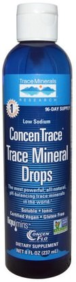 Suplementos, Minerales, Minerales Trace Minerals Research, ConcenTrace, Trace Mineral Drops, 8 fl oz (237 ml)