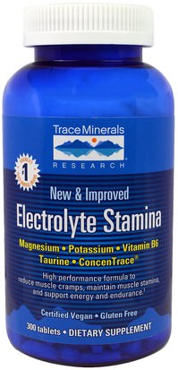 Salud, Energía Trace Minerals Research, Electrolyte Stamina, 300 Tablets
