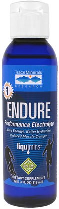 Salud, Energía Trace Minerals Research, Endure, Performance Electrolyte, 4 fl oz (118 ml)