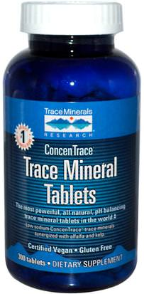 Suplementos, Minerales, Minerales Trace Minerals Research, Trace Mineral Tablets, 300 Tablets