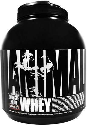 Deportes, Deporte Universal Nutrition, Animal Whey Muscle Food, Chocolate, 4 lbs (1.81 kg)