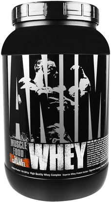 Deportes, Músculo Universal Nutrition, Animal Whey, Muscle Food, Salted Caramel, 2 lbs (907 g)