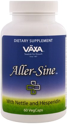 Suplementos, Salud, Alergias Vaxa International, Aller-Sine, 60 Veggie Caps