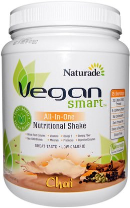 Suplementos, Superalimentos Vegan Smart, VeganSmart, All-In-One Nutritional Shake, Chai, 22.8 oz (645 g)