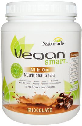 Suplementos, Superalimentos Vegan Smart, VeganSmart, All-In-One, Nutritional Shake, Chocolate, 24.3 oz (690 g)