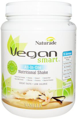 Suplementos, Superalimentos Vegan Smart, VeganSmart, All-In-One Nutritional Shake, Vanilla, 22.8 oz (645 g)