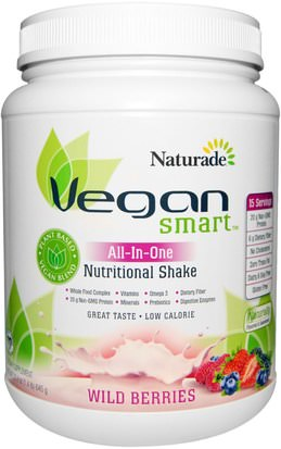 Suplementos, Superalimentos Vegan Smart, VeganSmart, All-In-One Nutritional Shake, Wild Berries, 22.8 oz (645 g)