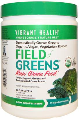 Suplementos, Superalimentos, Verdes Vibrant Health, Organic Field of Greens, 15.03 oz (426 g)
