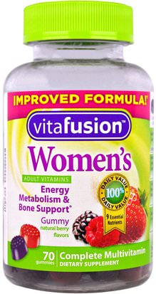Vitaminas, Mujeres, Multivitaminas, Gominolas VitaFusion, Womens Complete Multivitamin, Natural Berry Flavors, 70 Gummies