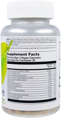 VegLife, Vital Teen Boys Multiple, 60 Vegan Capsules Vitaminas, Multivitaminas, Niños Multivitaminas