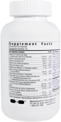 Thorne Research, Basic Nutrients IV with Copper and Iron, 180 Vegetarian Capsules Vitaminas, Multivitaminas