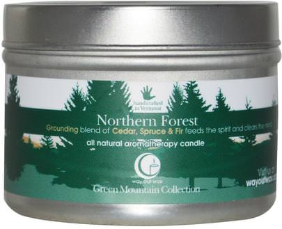 Baño, Belleza, Velas Way Out Wax, All Natural Aromatherapy Candle, Northern Forest, 3 oz (85 g)
