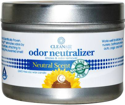 Hogar, Desodorantes Ambientadores, Baño, Velas Way Out Wax, Odor Neutralizer Candle, Natural Scent, 3 oz (85 g)