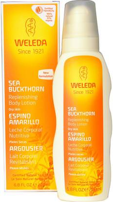 Baño, Belleza, Loción Corporal Weleda, Replenishing Body Lotion, Sea Buckthorn, 6.8 fl oz (200 ml)