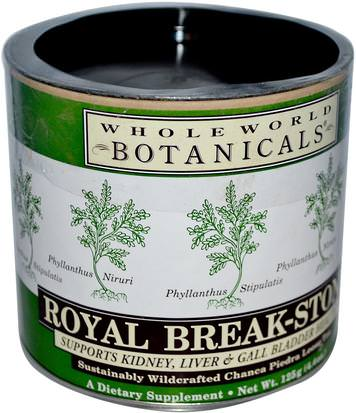 Comida, Té De Hierbas, Phyllanthus (Chanca Piedra) Whole World Botanicals, Royal Break-Stone Tea, 4.4 oz (125 g)
