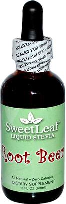 Comida, Edulcorantes, Stevia Wisdom Natural, SweetLeaf, Liquid Stevia, Root Beer, 2 fl oz (60 ml)