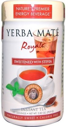 Comida, Té De Hierbas, Yerba Mate Wisdom Natural, Yerba Mate Royale, Sweetened with Stevia, Instant Tea, 2.82 oz (79.9 g)