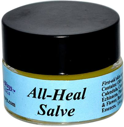 Hierbas, Salve Hierbas WiseWays Herbals, LLC, All-Heal Salve, 1/4 oz (7.1 g)