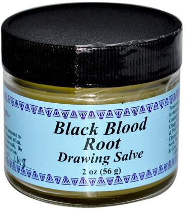 Hierbas, Salve Hierbas WiseWays Herbals, LLC, Black Blood Root, Drawing Salve, 2 oz (56 g)