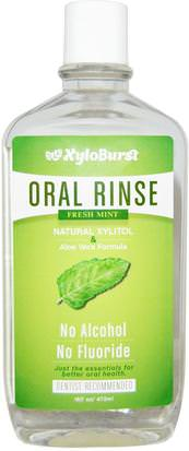 Baño, Belleza, Cuidado Dental Bucal, Enjuague Bucal Xyloburst, Oral Rinse, Fresh Mint, 16 fl oz (473 ml)