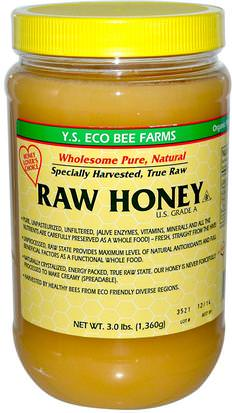 Comida, Edulcorantes, Miel Y.S. Eco Bee Farms, Raw Honey, 3.0 lbs (1,360 g)