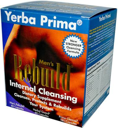 Salud, Hombres, Desintoxicacion Yerba Prima, Mens Rebuild Internal Cleansing, 3 Part Program
