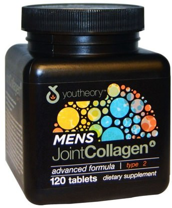 Salud, Hombres, Hueso, Osteoporosis, Salud De Las Articulaciones Youtheory, Mens Joint Collagen, Advanced Formula, Type 2, 120 Tablets