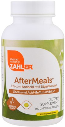 Suplementos, Enzimas Zahler, AfterMeals, Effective Antiacid and Digestive Aid, 100 Chewable Tablets